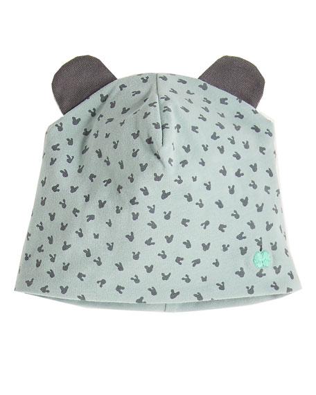 Reversible Baby Beanie Hat w/ Ears, Blue