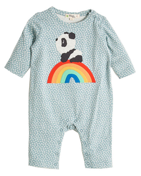 Rainbow Panda Appliqué Coverall, Size 0-18 Months