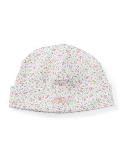 Floral-Print Pima Baby Hat