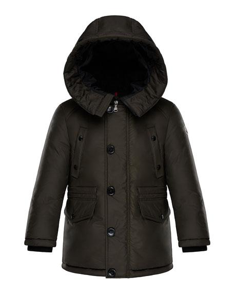 Dirk Long-Parka Coat, Size 8-14