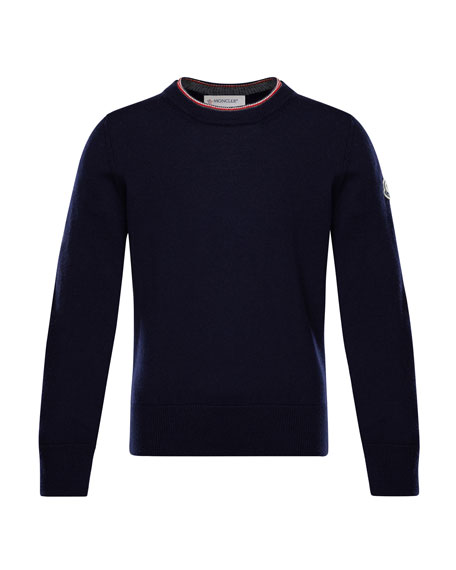 Maglia Virgin Wool Long-Sleeve Sweater, Size 8-14
