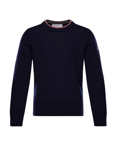Maglia Virgin Wool Long-Sleeve Sweater, Size 8-14
