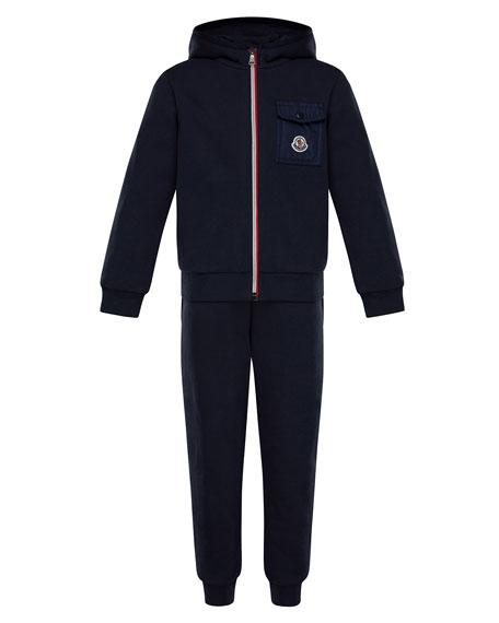 Zip-Up Hooded Jacket w/ Sweatpants, Size 4-6