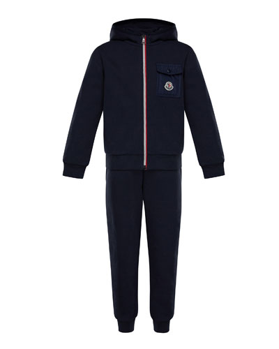 Zip-Up Hooded Jacket w/ Sweatpants, Size 8-14