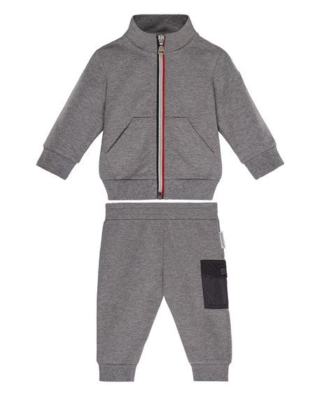 Moncler Zip-Up Jacket w/ Matching Leggings, Size 6M-3T