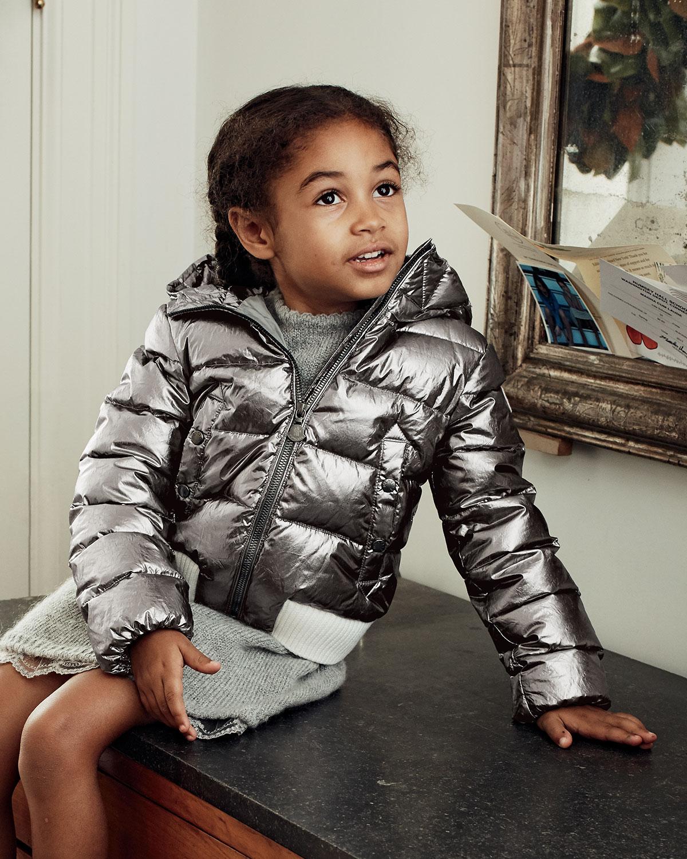 moncler verglas metallic quilted coat