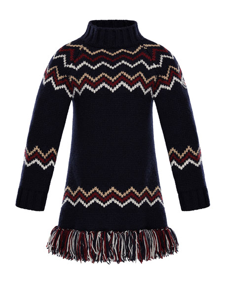 Abito Tricot Wool-Cashmere Knit Dress, Size 4-6