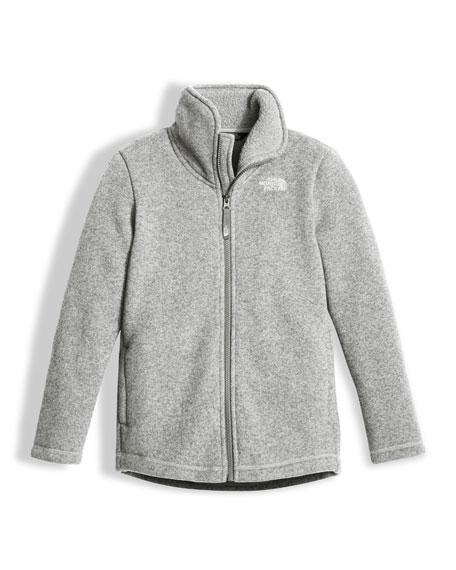 Girls' Crescent Full-Zip Fleece Jacket, Gray, Size XXS-XL