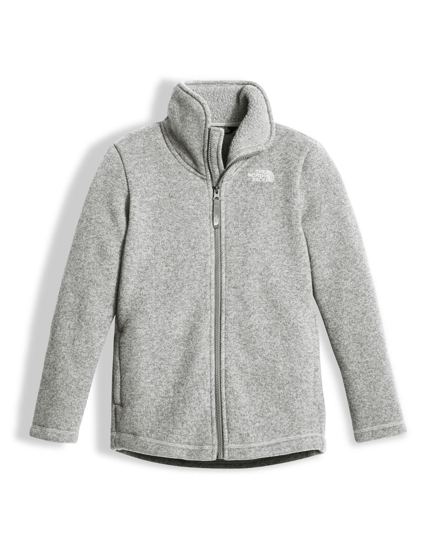 0aa0cef1ed The North Face Girls' Crescent Full-Zip Fleece Jacket, Gray, Size XXS