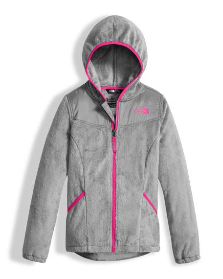 Oso Fleece Zip Hoodie, Silver, Girls' Size XXS-XL