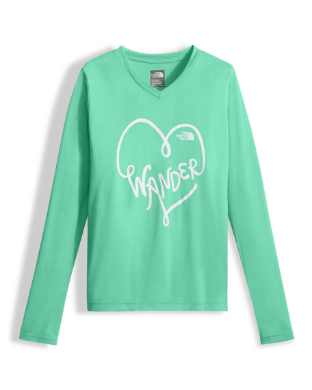 Long-Sleeve Reaxion Tee, Girls' Size XXS-XL