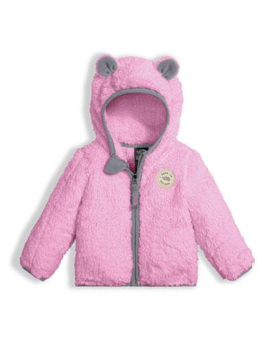 Plushee Fleece Bear Zip Hoodie, Pink, Size 3-24 Months