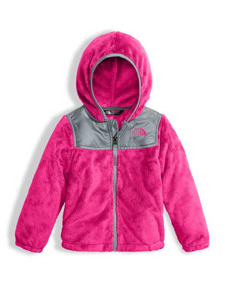Girls' Oso Fleece Zip Hoodie, Pink, Size 2-4T