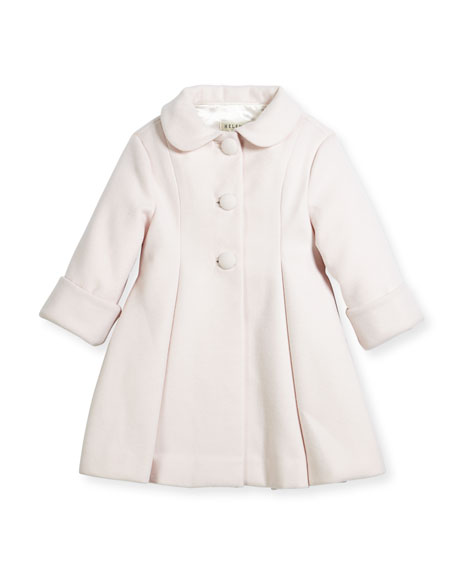 Helena Wool Topper Coat, Pink, Size 12-18 Months
