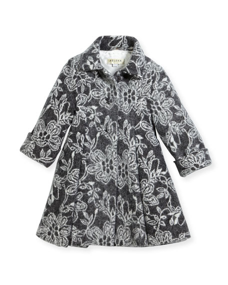 Helena Floral Topper Coat, Size 2-6 and Matching