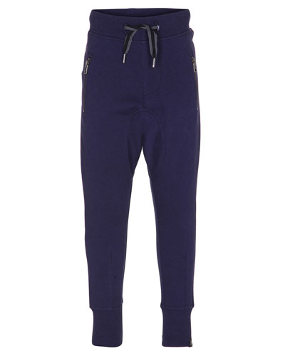 Ashton Zip-Pocket Track Pants, Size 4-12