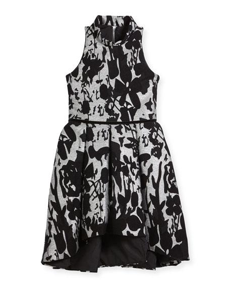 Evelyn Floral Halter Dress, Size 7-16