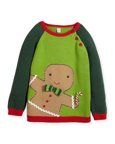 Boys' Knit Gingerman Sweater, Sizes 2T-10