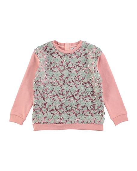 Molo Milla Sequin Sweatshirt, Size 4-12