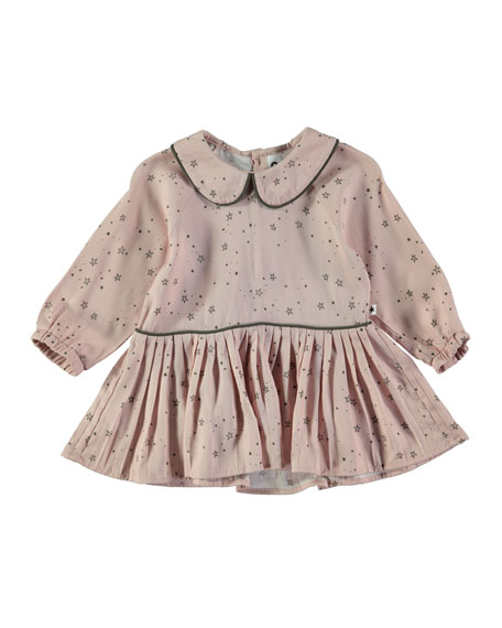 Crystala Long-Sleeve Star Dress, Size 12-24 Months