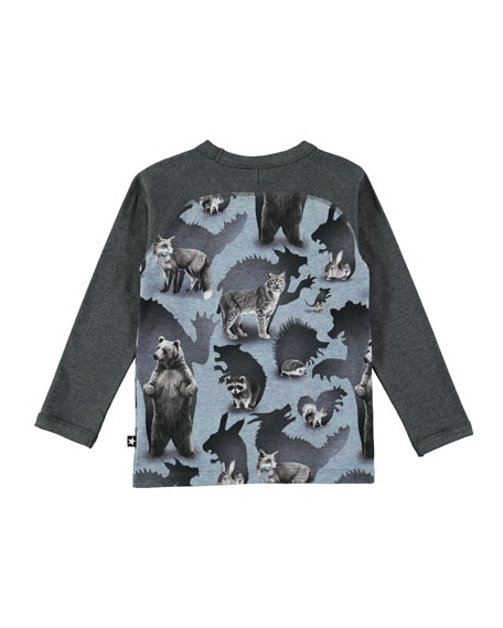 Remington Long-Sleeve Animal T-Shirt, Size 4-10