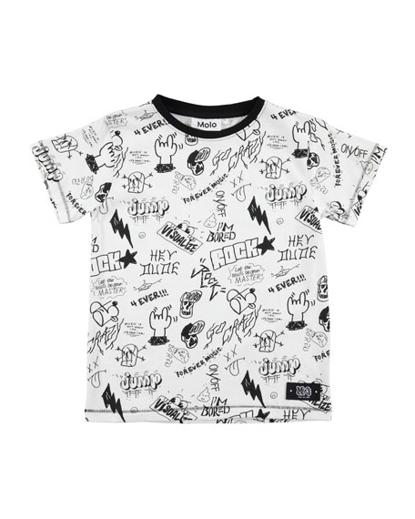 Molo Ragnij Short-Sleeve Graphic T-Shirt, Size 4-12