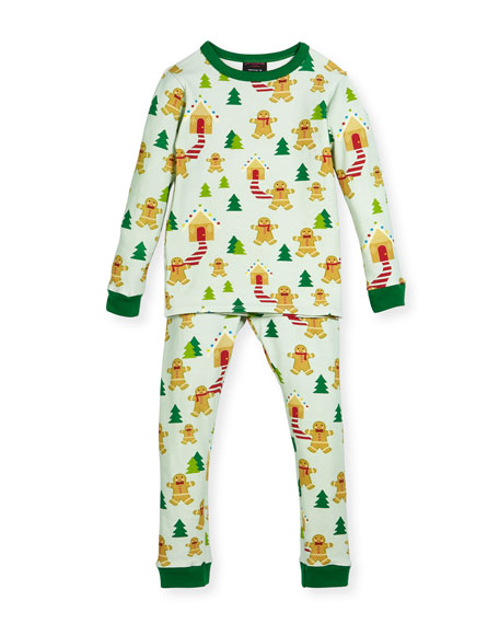 Bedhead Gingerbread-Print Pajamas Set, Size 2-8 and Matching