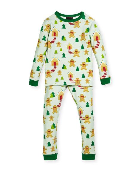 Bedhead Gingerbread-Print Pajamas Set, Size 10-12