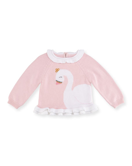 Knit Swan Sweater, Size 2T-7