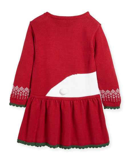 Polar Bear Knit Sweater Dress, Size 2T-7