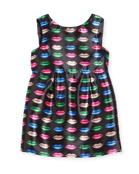 Milly Minis Kiss-Print Shift Dress, Size 4-7