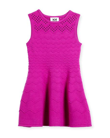 Chevron Ottoman Dress, Size 8-14