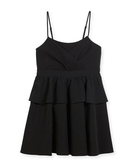 Milly Minis Tara Italian Cady Peplum Dress, Size