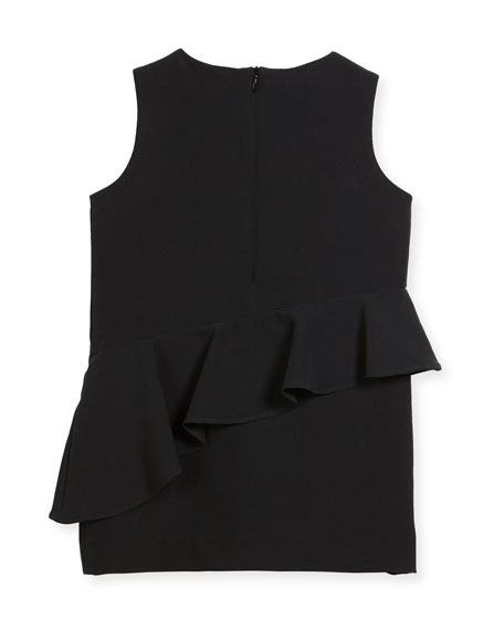 Logan Italian Cady Ruffle Dress, Size 8-16