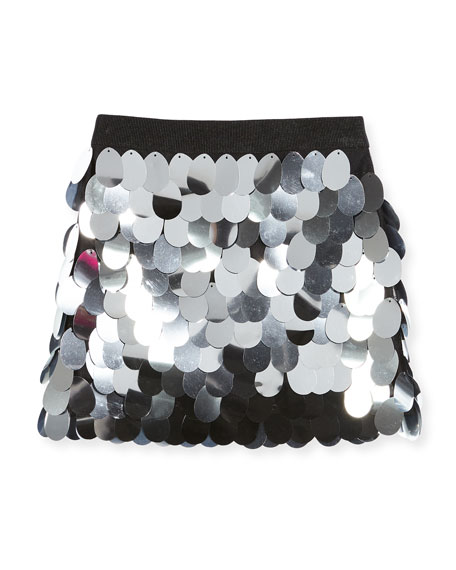 Milly Minis Paillette Sequin Mini Skirt, Size 4-7