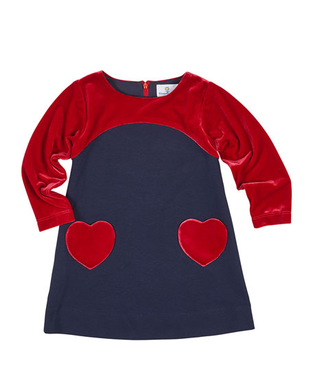 Florence Eiseman Ponte & Velvet Dress w/ Heart