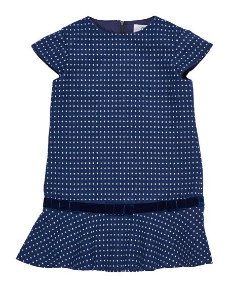 Florence Eiseman Jacquard Knit Sweater Dress, Size 7-10