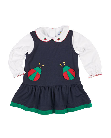 Florence Eiseman French Terry Ladybug Jumper w/ Blouse,
