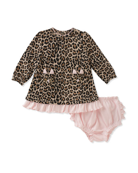 kate spade new york cat-pocket leopard dress w/