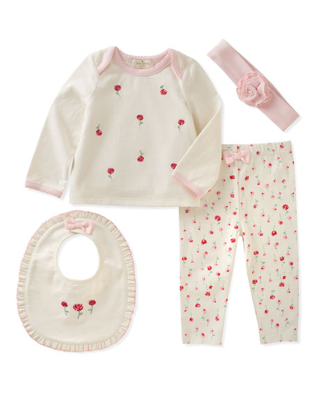 roses layette set, size 3-9 months