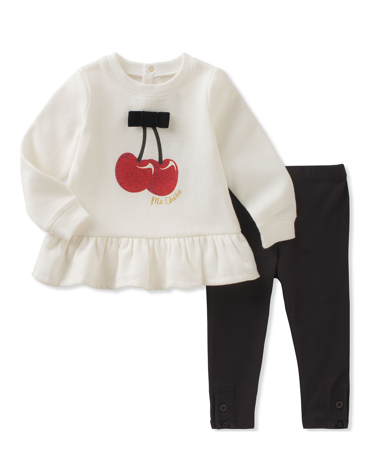787d4a98f kate spade new york cherries sweatshirt w/ leggings, size 12-24 months