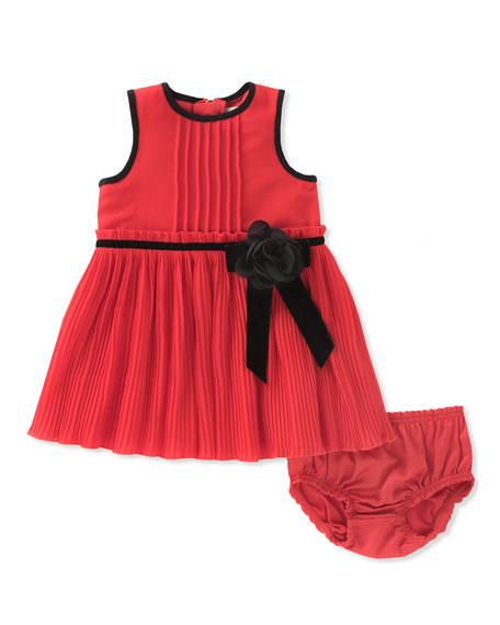 kate spade new york pleated chiffon dress w/