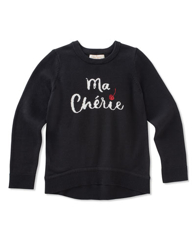 ma cherries knit sweater, size 2-6