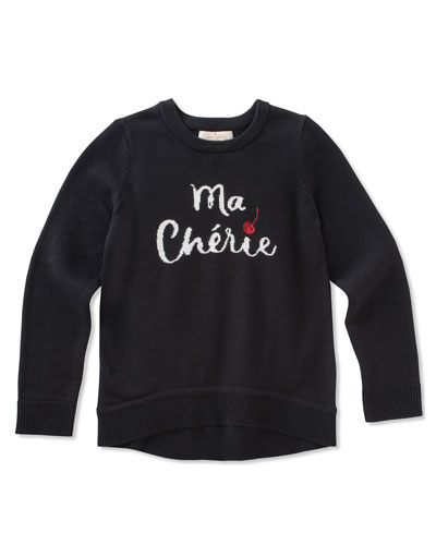 ma cherries knit sweater, size 7-14