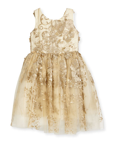 Goldie Textured Tell Party Dress, Size 7-16