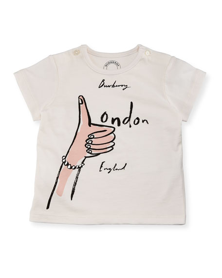 Thumbs Up Logo Short-Sleeve T-Shirt, Size 6M-3Y