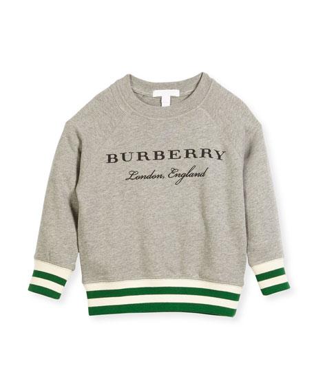 Burberry Stanley Logo Sweatshirt, Size 4-14