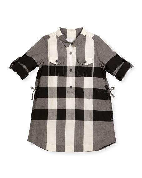 Burberry Darielle Check Shirtdress, Sizes 4-14