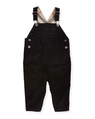 Wilba Cotton Overalls, Black, Size 3-24 Months