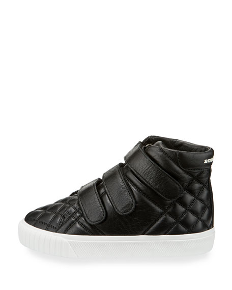 Sturrock Quilted Leather High-Top Sneaker, Toddler/Youth Sizes 10T-4Y